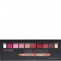 Палетка для макияжа губ: праймер, губные помады, пудры для губ Creatrice Creamy Matt Lip Palette CATRICE