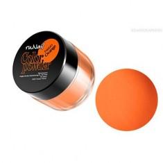 ruNail, Цветная акриловая пудра (флуоресцентная, оранжевая, Neon Orange), 7,5 гр