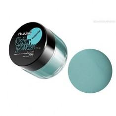 ruNail, Цветная акриловая пудра (бирюзовая,Pure Turquoise), 7,5 гр