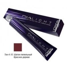L'Oreal Professionnel Dialight - Краска для волос Диалайт 4.15 Шатен пепельный красное дерево 50 мл L'Oreal Professionnel (Франция)