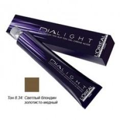 L'Oreal Professionnel Dialight - Краска для волос Диалайт 8.34 Светлый блондин золотисто-медный 50 мл L'Oreal Professionnel (Франция)