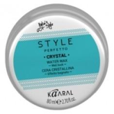 Kaaral Style Perfetto Crystal Water Wax - Воск для волос с блеском, 80 мл Kaaral (Италия)