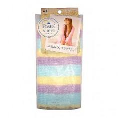 """мочалка с добавлением хлопка """"радуга"""" мягкая o:he pastel body towel rainbow blue"""
