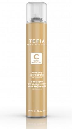 TEFIA Лак-спрей экстра сильной фиксации с д-пантенолом для волос / Catch Your Style 500 мл