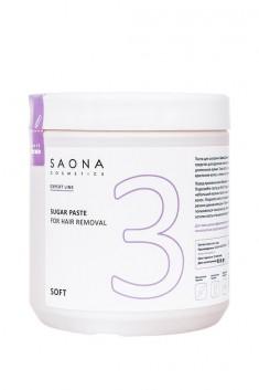 SAONA COSMETICS Паста сахарная для шугаринга № 3 мягкая / SOFT Expert Line 1000 г