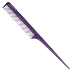 DEWAL BEAUTY Расческа с пластиковым хвостиком, фиолетовая 20,5 см