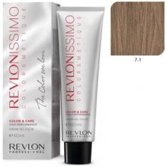 REVLON PROFESSIONAL 7.1 краска для волос, блондин пепельный / RP REVLONISSIMO COLORSMETIQUE 60 мл