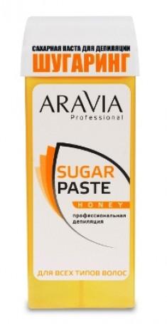 ARAVIA Паста сахарная очень мягкой консистенции для шугаринга Медовая, в картридже 150 г (20)