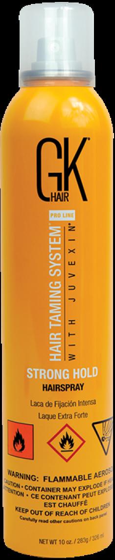 GKHair (Global Кеratin) Лак сильной фиксации для волос / Hair spray Strong hold 326 мл