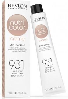 REVLON Professional 931 краска 3 в 1 для волос, светло-бежевый / NUTRI COLOR CREME 100 мл