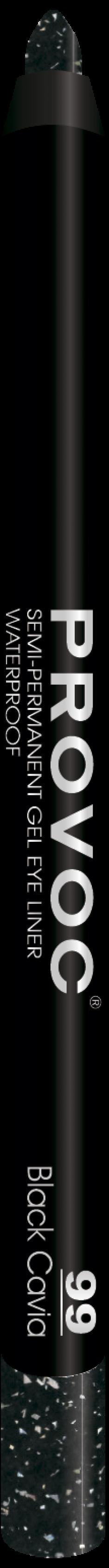 PROVOC Подводка гелевая в карандаше для глаз 99 (цв. черный с гологр) (L) / Provoc Gel Eye Liner, 9 гр