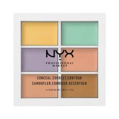 Набор консилеров для лица NYX PROFESSIONAL MAKEUP COLOR CORRECTING CONCEALER тон 04 6 оттенков
