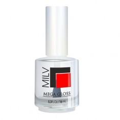 Milv, Топ с эффектом мокрого лака Mega Gloss, 16 мл