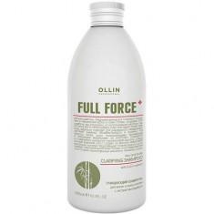 Очищающий шампунь для волос и кожи головы с экстрактом бамбука Full Force OLLIN PROFESSIONAL