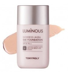 Тональная основа TONY MOLY Luminous goddess aura silk foundation 01 Skin Beige 45 мл