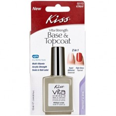 Основа и фиксатор лака 2 в 1 Base & Topcoat KISS