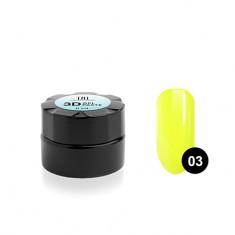 TNL, Гель-паста 3D №03, лимонная, 6 мл TNL Professional