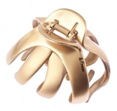 LA FRANCE Заколка-краб большой Медуза, золотистый комбинированный