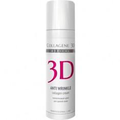 Крем для лица Anti Wrinkle с плацентолью, коррекция возрастных изменений для зрелой кожи MEDICAL COLLAGENE 3D