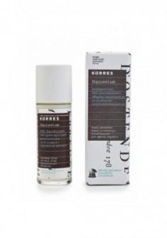 Дезодорант антиперспирант 48 часов с экстрактом хвоща. интенсивное потоотделение для чувствительной кожи (без запаха) Korres 30 мл