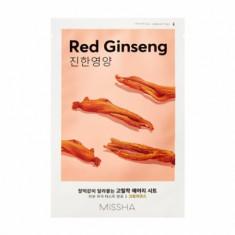 Маска тканевая тонизирующая с женьшенем MISSHA Airy Fit Sheet Mask Red Ginseng