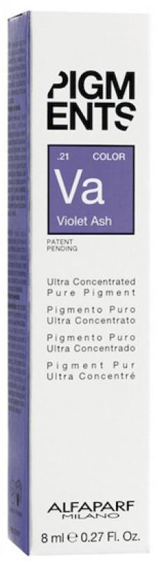 ALFAPARF MILANO Пигмент-тюбик перламутрово-пепельный 21 / PIGMENTS Violet ash 8 мл