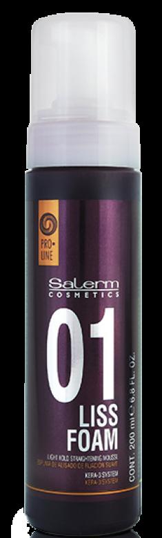 SALERM COSMETICS Пенка выпрямляющая для волос / LISS FOAM PRO-LINE 200 мл
