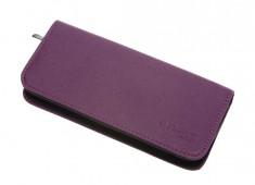 DEWAL PROFESSIONAL Чехол для 2-х ножниц, полимерный материал, фиолетовый с черным 22х10х3 см