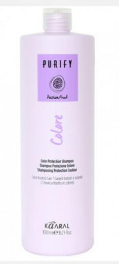 Шампунь для окрашенных волос на основе фруктовых кислот ежевики Kaaral Purify-Colore Shampoo 1000мл