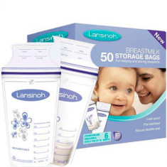 Пакеты для заморозки и хранения грудного молока L Breastmilk Storage Bags 50 шт LANSINOH