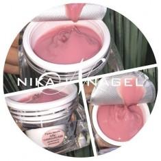 желе камуфляж дымчато-розовый nika nagel 15г