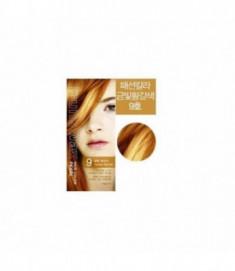 Краска для волос на фруктовой основе Fruits Wax Pearl Hair Color #09 60мл*60гр WELCOS