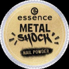 Эффектная пудра для ногтей Мetal shock nail powder Essence 04 золотой