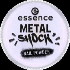 Эффектная пудра для ногтей Мetal shock nail powder Essence 05 синий перламутр