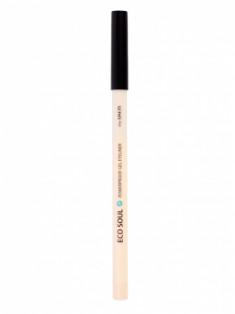 Карандаш для глаз водостойкий гелевый THE SAEM Eco Soul Waterproof Gel eyeliner 11 Dark Night Black 0.5г