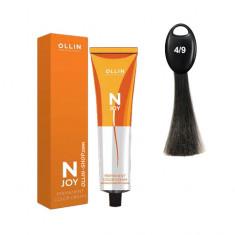 Ollin N-JOY 4/9 шатен зеленый перманентная крем-краска для волос 100мл OLLIN PROFESSIONAL