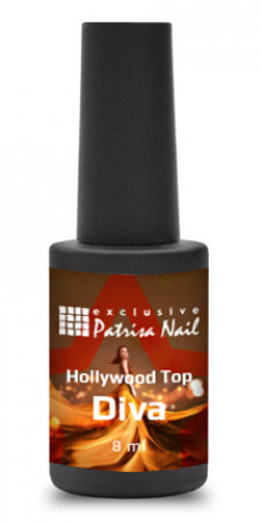 PATRISA NAIL Топ без липкого слоя, с голографическим глиттером / Hollywood-Top Diva 8 мл