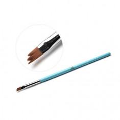 TNL, Кисть для дизайна фигурная «Трезубец», голубая TNL Professional