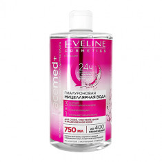 Мицеллярная вода EVELINE FACEMED+ 3 в 1 гиалуроновая 750 мл