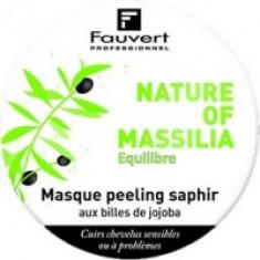 Fauvert Professionnel Nature Of Massilia Masque Peeling Saphir - Маска Сапфир-пилинг с микро-гранулами жожоба, 80 мл