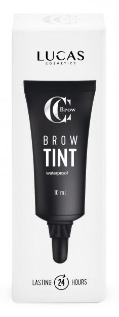 LUCAS' COSMETICS Тинт гелевый водостойкий для бровей, коричневый / CC Brow Tint brown 10 мл
