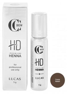 LUCAS' COSMETICS Хна для бровей, какао / CC Brow Premium henna HD Cocoa 5 г