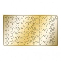 Freedecor, Металлизированные наклейки №198, золото