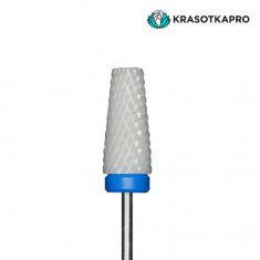 KrasotkaPro, Фреза керамическая «Конус усеченный» D=3,5-6 мм, синяя