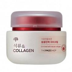 крем для глаз с экстрактом граната и коллагеном the face shop pomegranate and collagen volume lifting eye cream