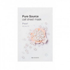 Маска тканевая Жемчуг MISSHA Pure Source Cell Sheet Mask Pearl 21г