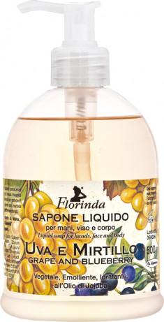 FLORINDA Мыло растительное жидкое, виноград и черника / Uva e Mirtillo 500 мл