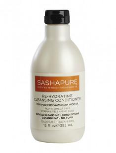 SASHAPURE Кондиционер увлажняющий для волос с маслом Сача Инчи / Re-hydrating cleansing conditioner 350 мл