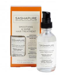 SASHAPURE Сыворотка разглаживающая для волос с натуральными маслами / Shine & Smoothing Treatment 50 мл