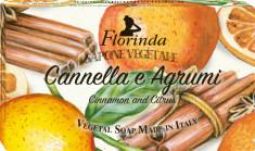 FLORINDA Мыло растительное, корица и цитрус / Cannella e Agrumi 200 г
